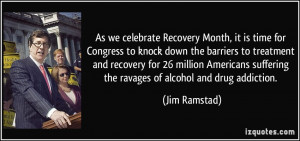 As we celebrate Recovery Month, it is time for Congress to knock down ...
