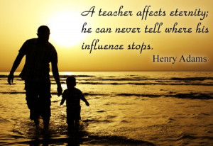 teacher appreciation quote by henry adams