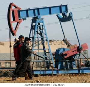 - FEB. 4: A roughneck maintains a drilling rig at a producing oil ...