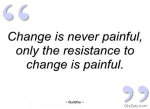 change is never painful buddha