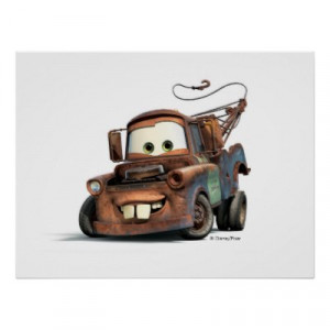 Tow Truck Mater Smiling Disney posters by disney