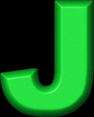 Presentation Alphabet Set Green Refrigerator Magnet J