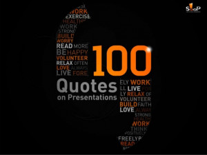 100 Quotes on Presentations by SOAP