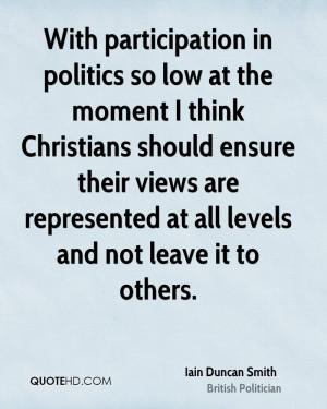 Iain Duncan Smith Politics Quotes
