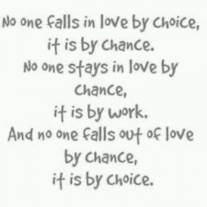 Chance or Choice....