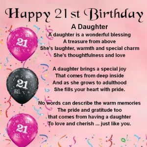 Quotes For Daughter Turning 21. QuotesGram