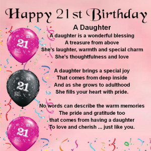 Quotes For Daughter Turning 21 Quotesgram
