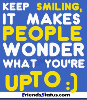smile wonder fb status pictures