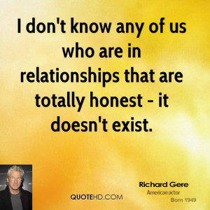 don't know any of us who are in relationships that are totally ...