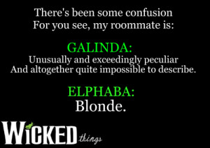 Wicked The Musical Quotes Tumblr Wicked Musical Quotes