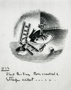 ... artwork for a 1950 strip cartoon by Norman Pett and Donald Freeman