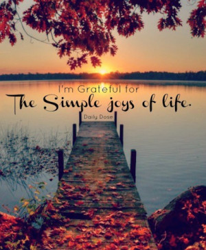 the simple joys of life grateful quotes