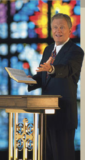 Baptist Pastor Ed Young favorably quotes Gandhi, a Hindu guru.