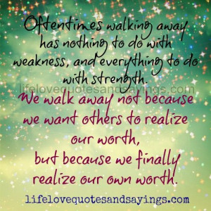 Oftentimes Walking Away..