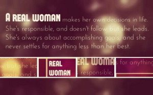 real woman quote