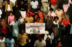 """... The Dreamer But Not His Dream""""Atlanta, April (1968) James L. Amos"""