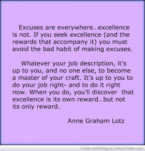 Excellence Quotes Advise