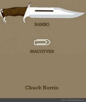 Funny Picture - Rambo mcgyver chuck norris