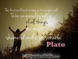 Motivational Quotes – The first and best victory is to conquer self ...