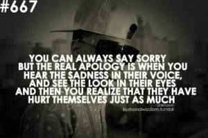 Rapper, big sean, quotes, sayings, sorry, apology