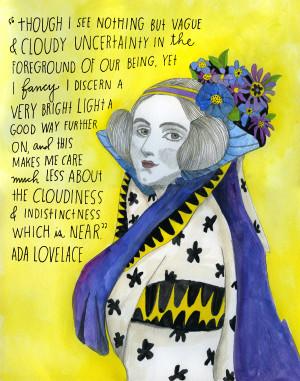 English mathematician and writer Augusta Ada King, Countess of ...