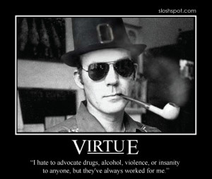 Wednesday Quotes #5: Hunter S. Thompson (the great writer of