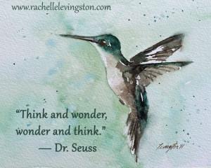 ... quote hummingbird 11x14 Typography quote: