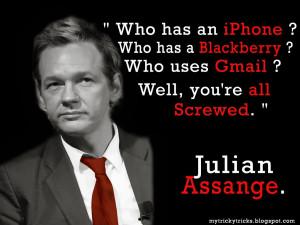 Quotes Justice Julian Assange