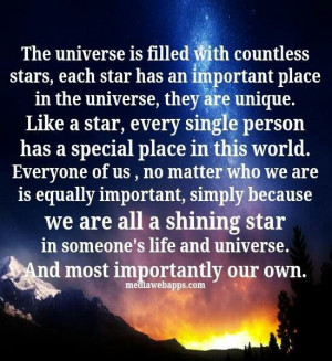 The universe...