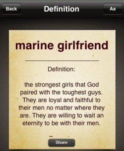 Being a marine girlfriend is not an easy job, but it's definitely ...