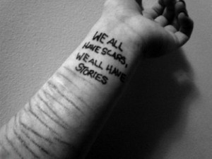 cut, cutting, depression, scars, self harm, self hate, stories