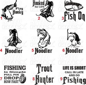 , Decals Cars, Fish Sayings Decs, Funnyness Fishing Quotes, Bass Fish ...