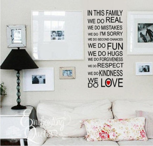 family quotes family wall sayings are perfect for entryways foyers and ...