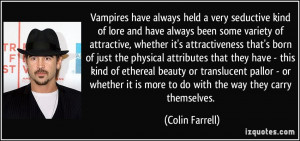 Vampires have always held a very seductive kind of lore and have ...