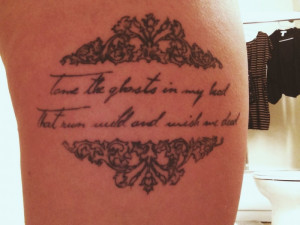 ... quote by my favorite band, Mumford & Sons, reminds me to hold on to my