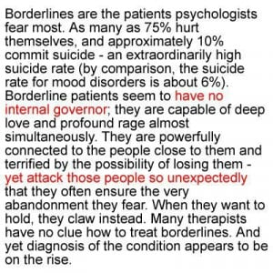 Bpd. Love me and I will kill you, slowly, with my love and madness ...