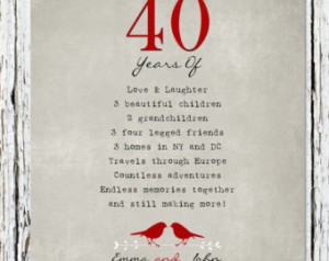 40 Year Wedding Anniversary Quotes Quotesgram