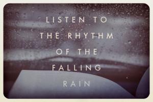 love listening to rain