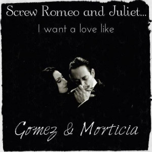 Gomez Addams and Morticia Addams so in love!