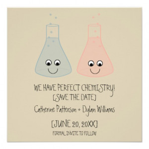 Cute Chemistry Save the Date Invite from Zazzle.com