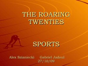 The Roaring Twenties - Sports