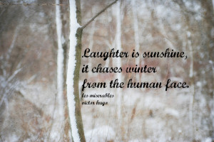 Les Miserables Quote Winter Art Print