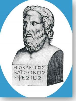 Heraclitus of Ephesus · Héraclite d'Éphèse · Heraklit von Ephesus