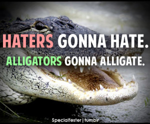Tagged: haters gonna hate quotes funny