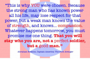 will stay who you are not a perfect soldier but a good man abraham ...