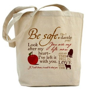 ... bags handbags tote bags edward cullen quotes tote bag cafepress