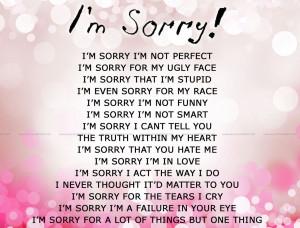 Im Sorry