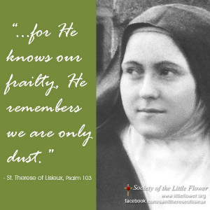 Re: St. Therese quotes