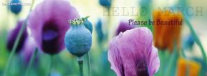 Hello March Facebook Profile Cover Photo