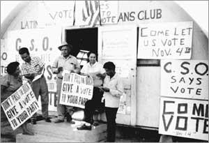 Voter registration at the Community Service Organization (C.S.O ...